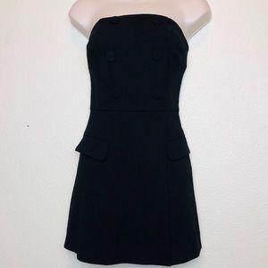 Rebecca Vallance Little Black Dress Strapless 6